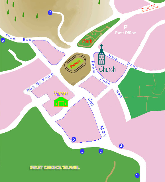 sapa maps for hotels