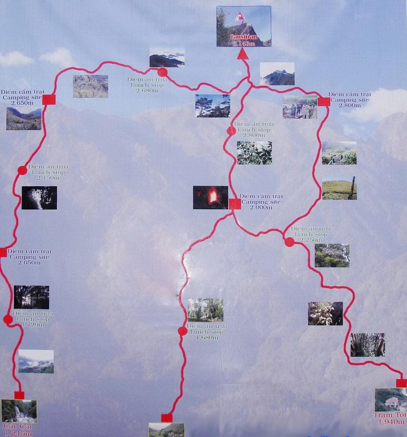 Fansipan map