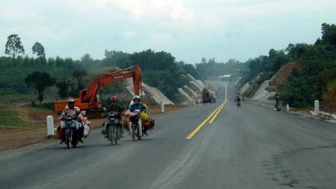 Motor Bike on the new road