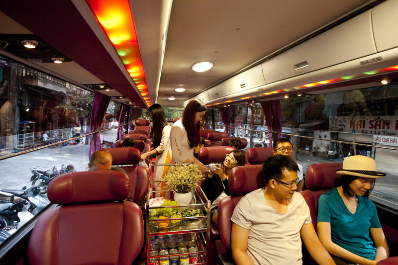 on board service Limousine bus 29 seats by sapa travel