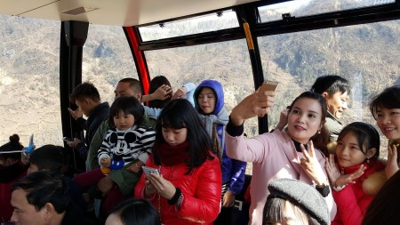 on the Fansipan Cable Car,