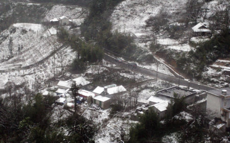 snow in sapa villages