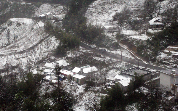 snow in sapa villages