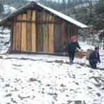 Snow falls in Sapa in 2018