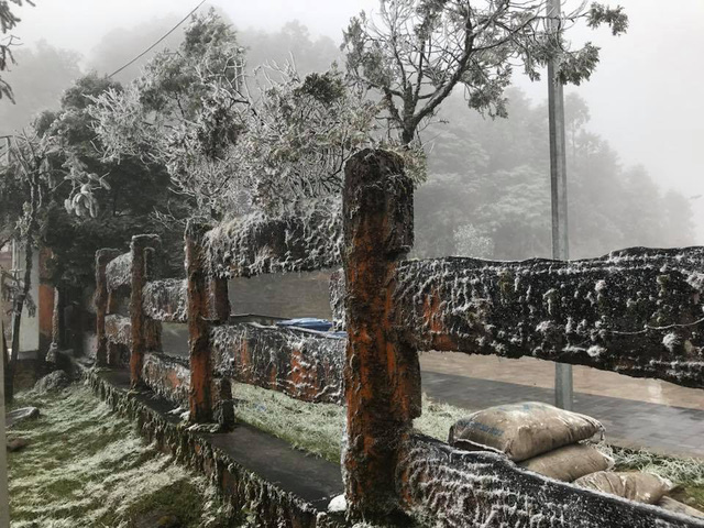 it is snowing in Sapa